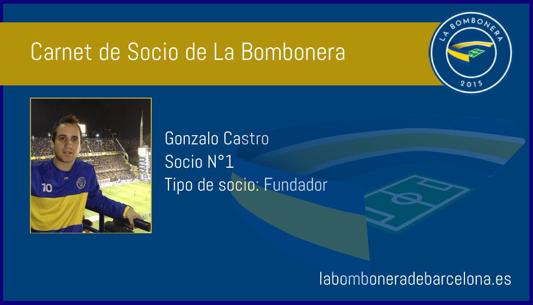 Carnet de socios del club deportivo La Bombonera